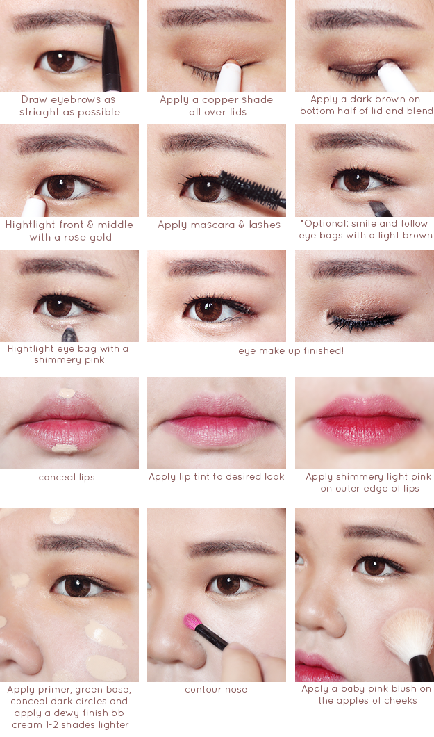 yummmiiee: Korean MakeUp VS American Makeup Tutorial
