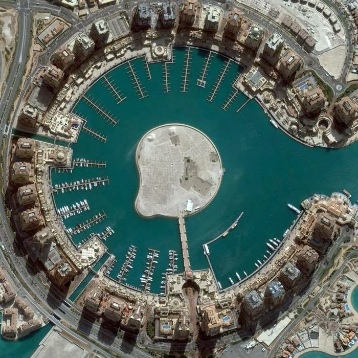 Artificial island spanning over 4 million square feet, Doha, Qatar, March 4, 2013