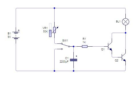 Rangkaian Transistor Sebagai Timer | Prinsip Kerja Kapasitor Sebagai Pewaktu