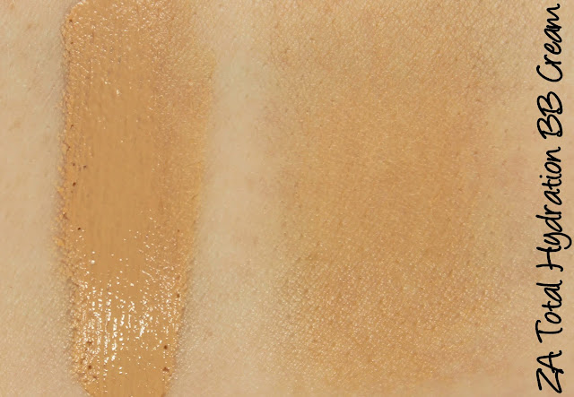 ZA Total Hydration BB Cream Swatches & Review
