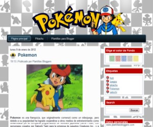 plantilla de pokemon para blogger