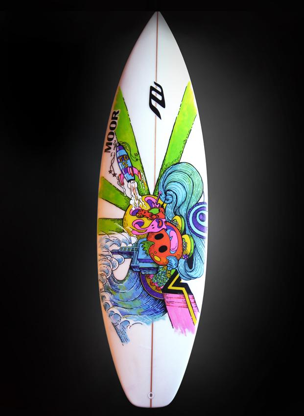 Ouidesign ilustraci n para una tabla de surf - Disenos de tablas de surf ...