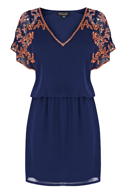 warehouse navy dress