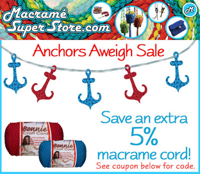 Anchors Aweigh: Macrame Super Store Sale
