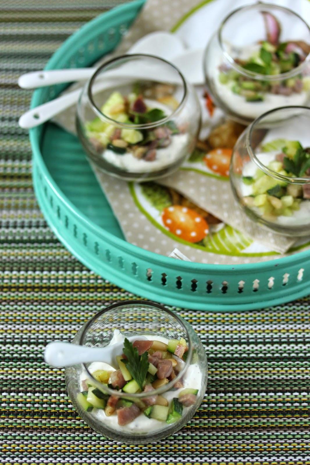 Dans la cuisine de sophie verrines de boursin cuisine courgettes et jambon cru - Courgette boursin cuisine ...