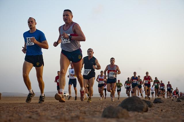 fotografía sin copyright de corredores de maratón