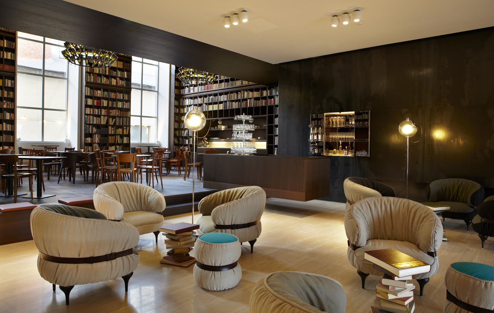 Library Lounge B2 Boutique Hotel Zurich Book Patrol A