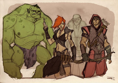 Hulk Black Widow Hawkeye Nick Fury Medieval Alternative
