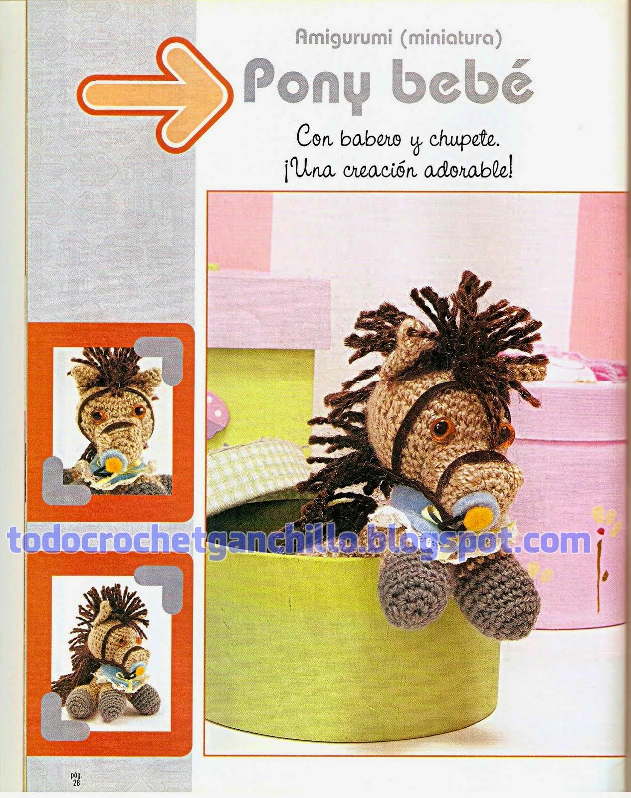 Pony bebé: Amigurumi con explicación y patrones en Español