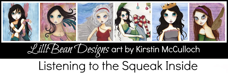 LISTENING TO THE SQUEAK INSIDE art by Kirstin McCulloch of LilliBean Designs