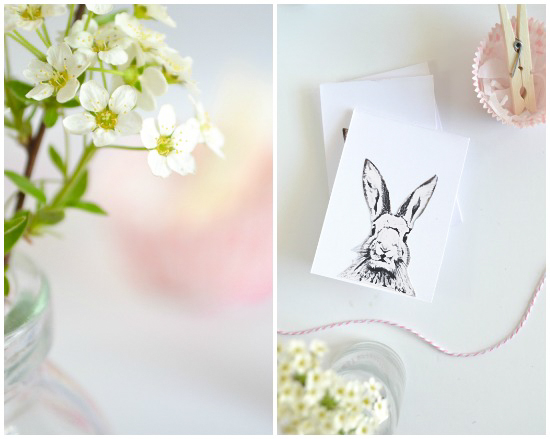 Free Easter printable - bunny
