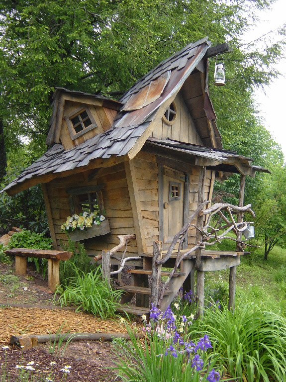 Aplaceimagined whimsical playhouse for Whimsical playhouses
