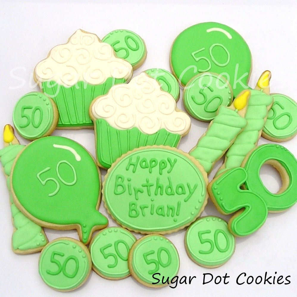 50th Birthday Sugar Cookies