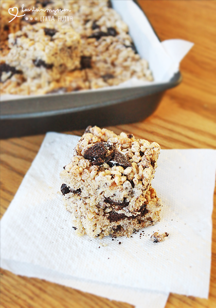 Hearts in My Oven: Cookies and Cream Rice Krispies Treats