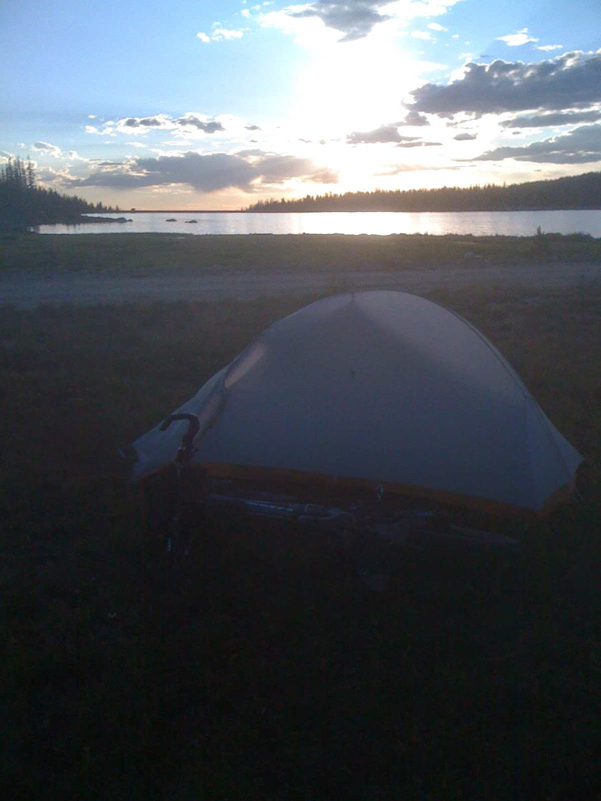 Big Agnes Fly Creek UL2 at the foot of Fish Creek Reservoir