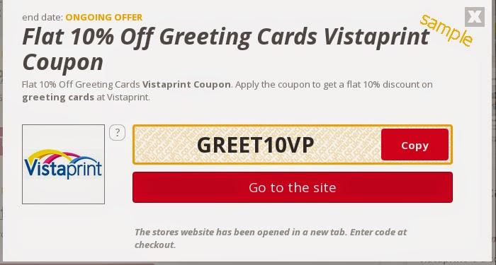 Vistaprint coupon cards