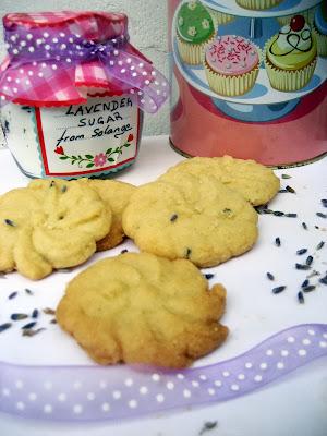 lavender biscuits, lavender sugar, Cookies lavande