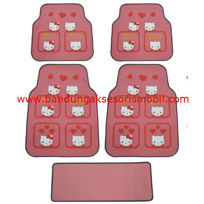 Karpet Hello Kitty 4 Kotak Perancis Pink