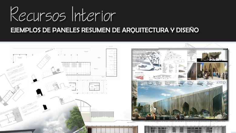 Ejemplos de paneles resumen de arquitectura y dise o for Que es diseno en arquitectura