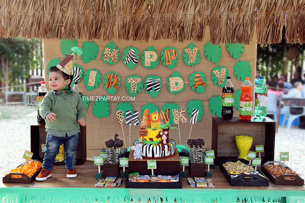 Jungle Themed First Birthday Party | Time2Partay.com