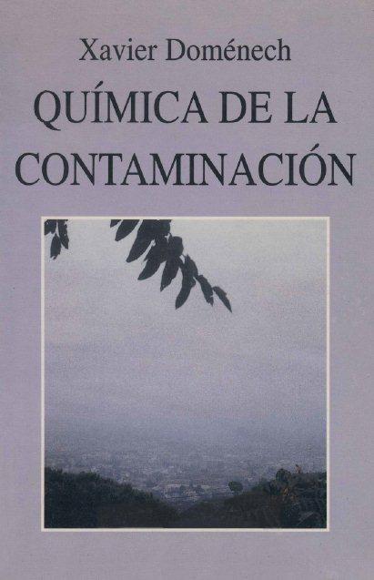 Química de la Contaminación   Xavier Doménech FreeLibros