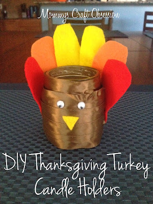 Tealight candle holders, turkey craft project, thanksgiving craft project