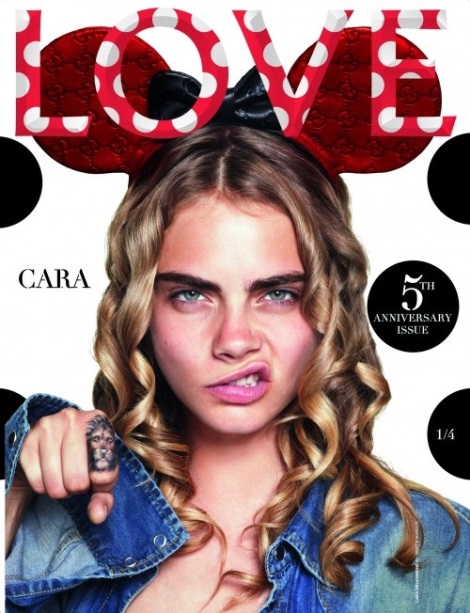 Cara Delevingne Love Magazine Disney Cover by Mert & Marcus