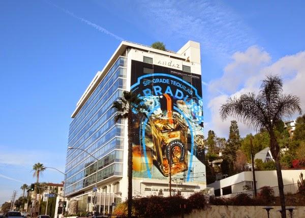 Giant Tequila Herradura horseshoe billboard