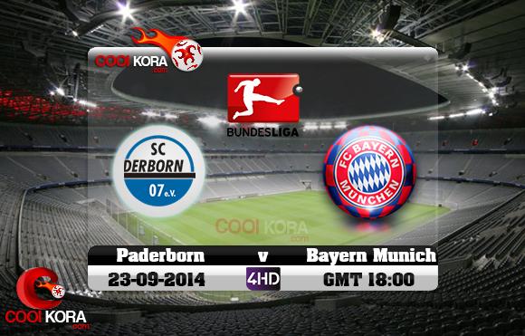 مشاهدة مباراة بايرن ميونخ و بادربورن بث مباشر الدوري الألماني Bayern Munich vs SC Paderborn