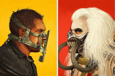 "Mad Max: Fury Road ""Immortan Joe"" & ""Max Rockatansky"" Screen Prints by Mike Mitchell"