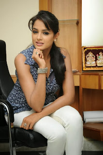 Actress Asmitha Sood Pictures in Tight Jeans at Aadu Magadura Bujji Interview  0061