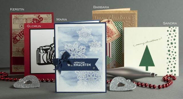 Weihnachtskarte, Christmas Card, Stampin up, Oh Tannenbaum, Flockenzauber