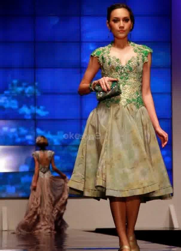Model Kebaya Modern Lengan Pendek