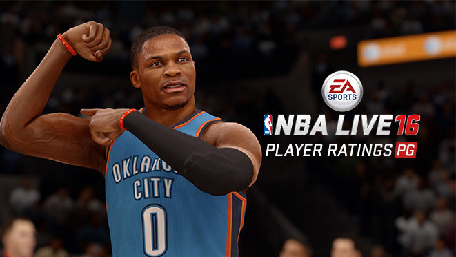 NBA Live 16 Top 6 Point Guards (ratings)