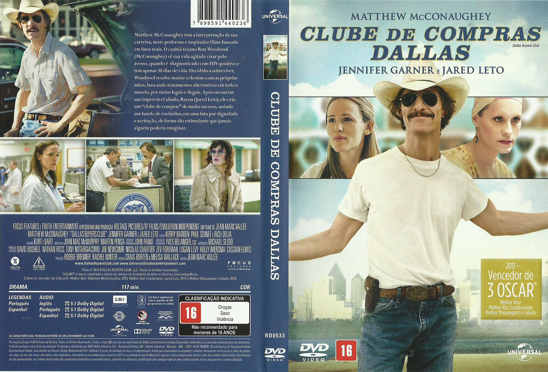 Capa DVD Clube De Compras Dallas