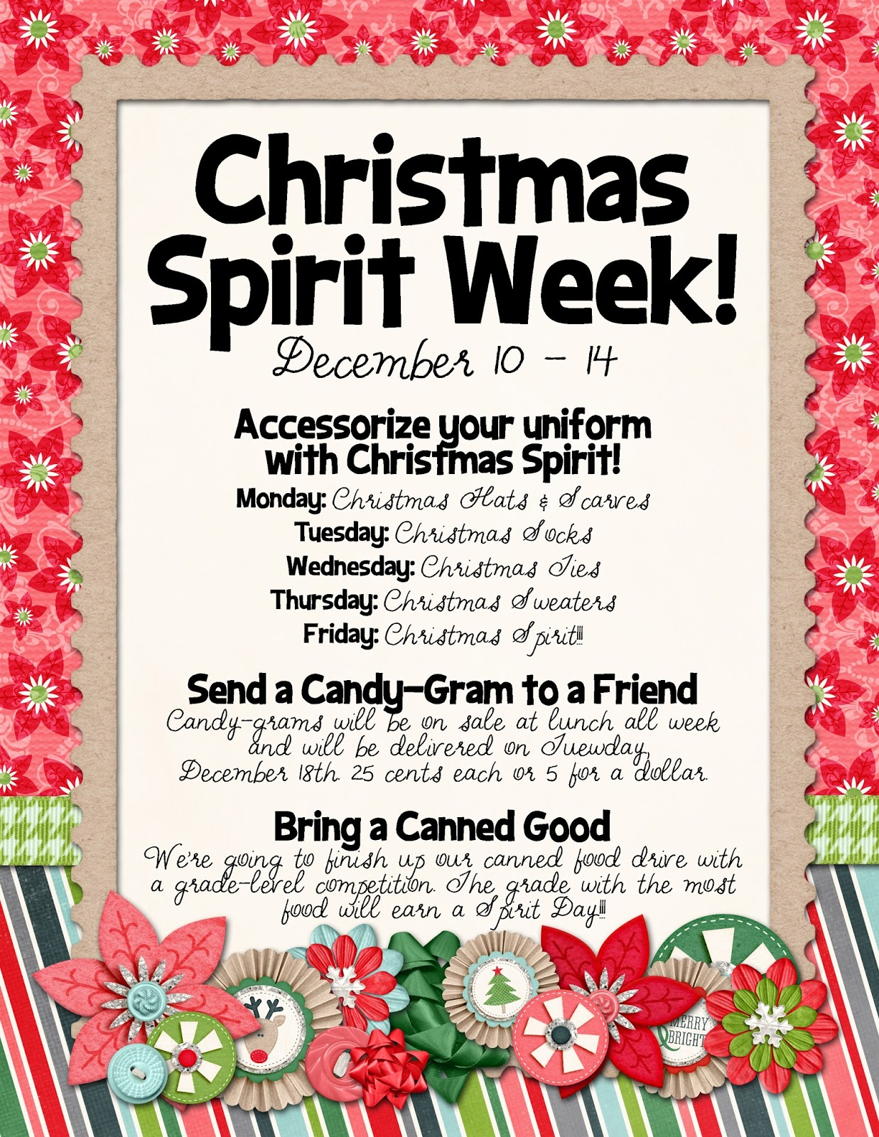 Slightly Askew Designs: Christmas Spirit Week