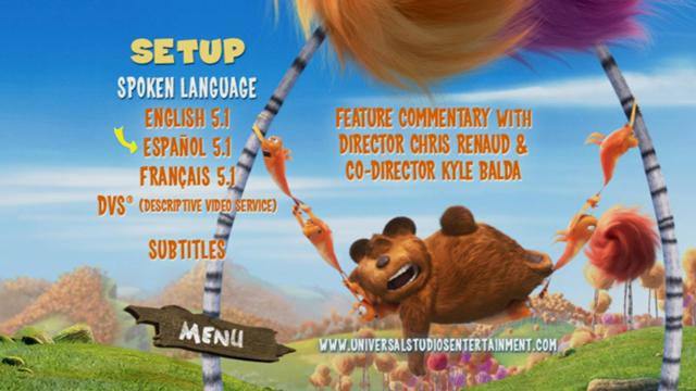 Dr Seuss The Lorax DVDR NTSC Español Latino Descargar 2012