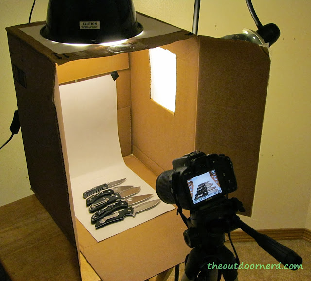 Homemade DSLR Light Box Setup