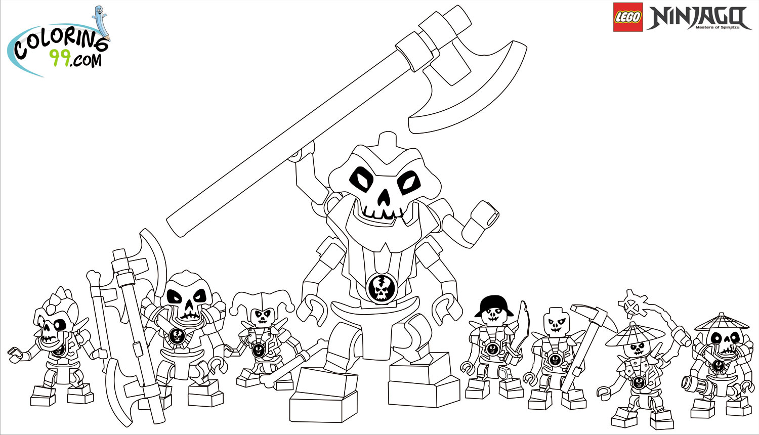 LEGO Ninjago Skulkin Coloring Pages | Team colors