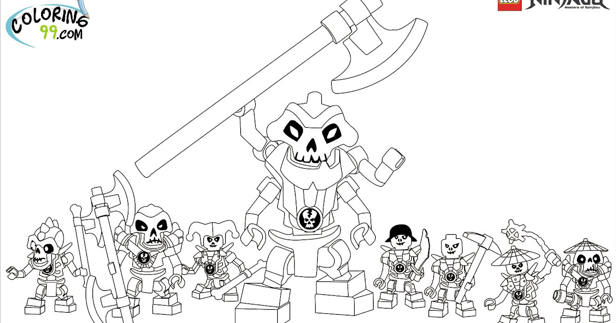 Lego Ninjago Skeleton Army Coloring Pages