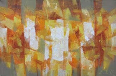 Pintura en Lienzo creacion en Oleo del año 2011, Abstracto en Ocres y