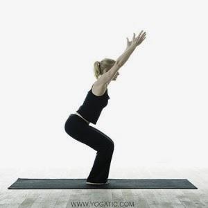 yoga chair-pose