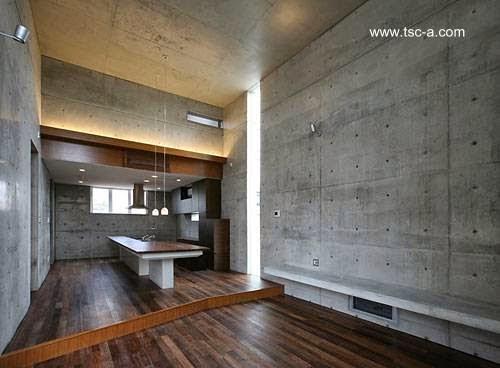 Vista interior desde la sala a la cocina comedor