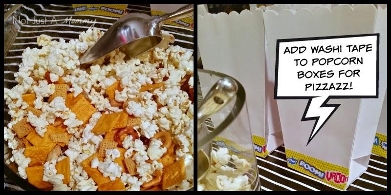 MARVEL Avengers: Age of Ultron Movie Marathon Party popcorn