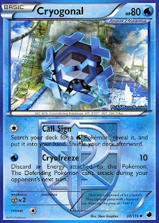 Cryogonal Plasma Freeze Pokemon Card