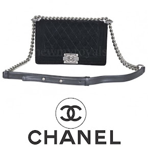 Princess Medeleine Style CHANEL small velvet boy chanel flap bag