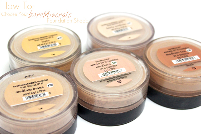 Love Shelbey How To Choose Your Bare Minerals Foundation Shade