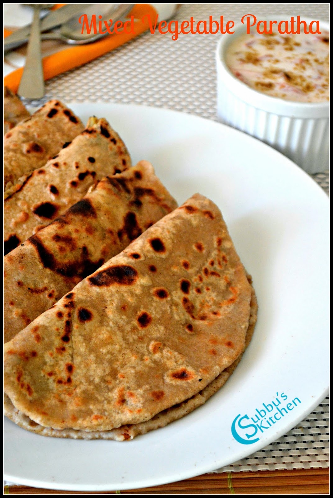 Mixed Vegetable Paratha Recipe