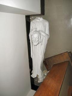 a broken statue