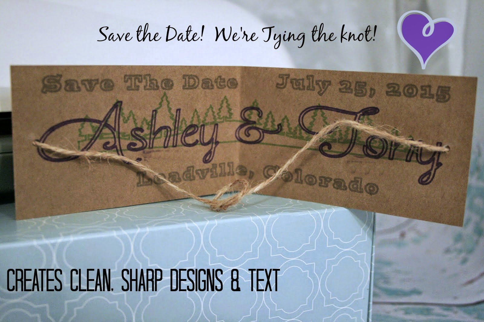 How to use a silhouette pen holder, Sharpie use in a silhouette, rustic mountain wedding save the dates